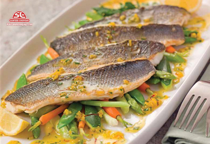 cá chẻm sốt cam