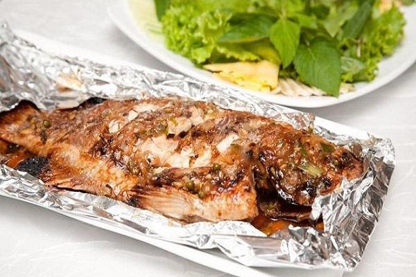 cá bò da nướng giấy bạc