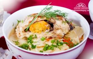 cá gáy nấu măng chua