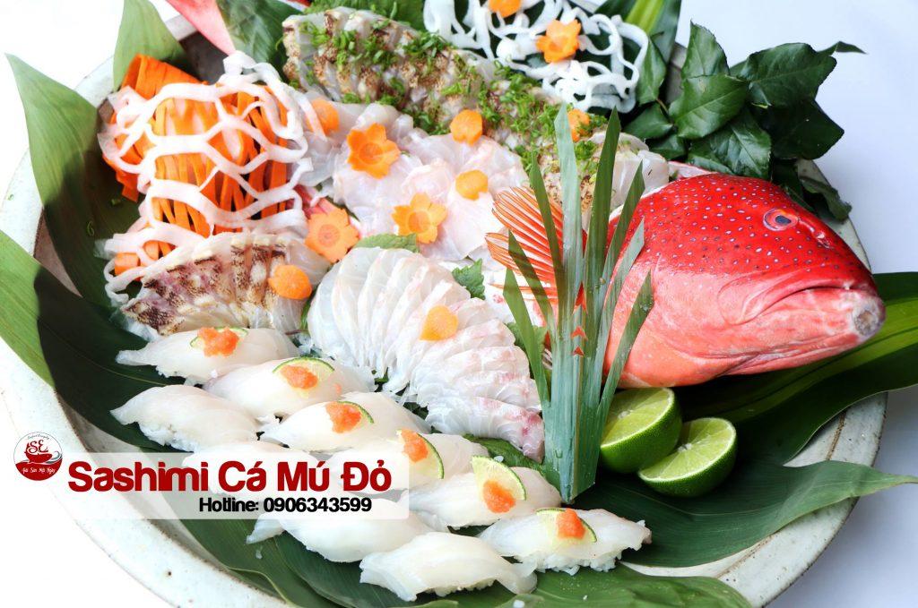 ca mu do sashimi