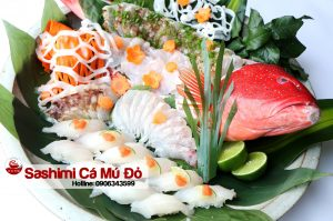 ca mu do sashimi