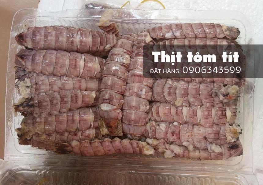 thịt tôm tít làm sạch