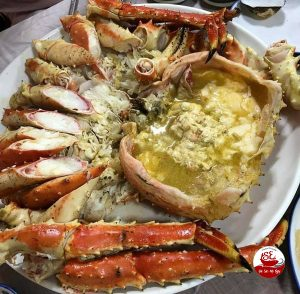 king crab hấp
