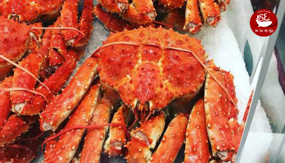 king crab hấp